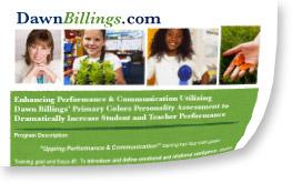 speaking program by Dawn Billings: Primary Colors School Program